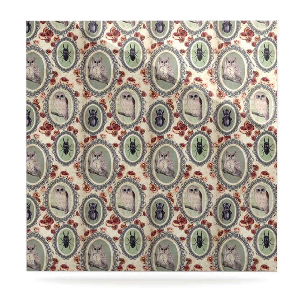 "DLKG Design ""Camafeu"" Gray Beetles Luxe Square Panel - KESS InHouse  - 1"