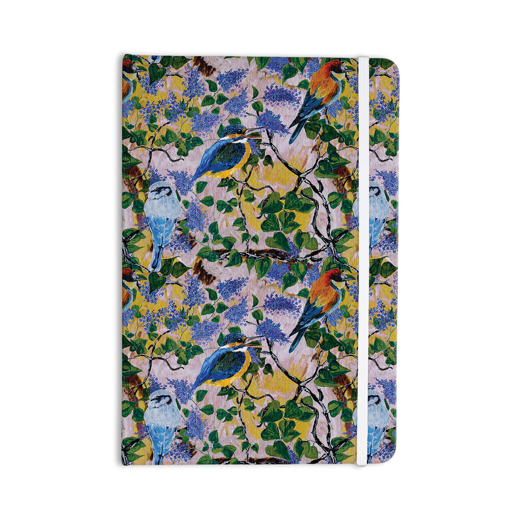 "DLKG Design ""Birds"" Blue Yellow Everything Notebook - KESS InHouse  - 1"