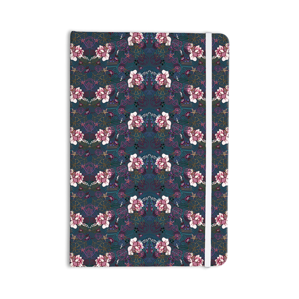"DLKG Design ""Cool Stitch"" Purple Navy Everything Notebook - KESS InHouse  - 1"