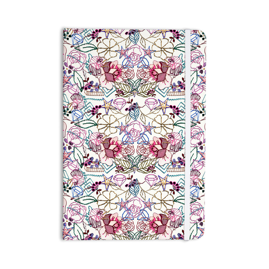 "DLKG Design ""Cool Stitch White"" Blush Everything Notebook - KESS InHouse  - 1"