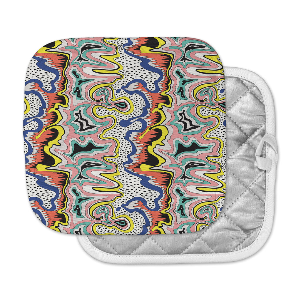 "DLKG Design ""Modern Expression"" Abstract Illustraion Pot Holder"
