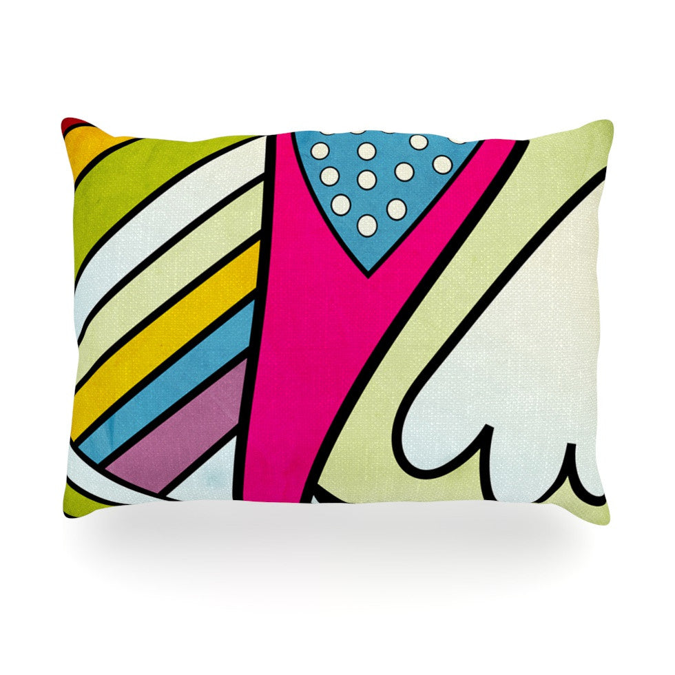"Danny Ivan ""Fake Colors"" Oblong Pillow - KESS InHouse"