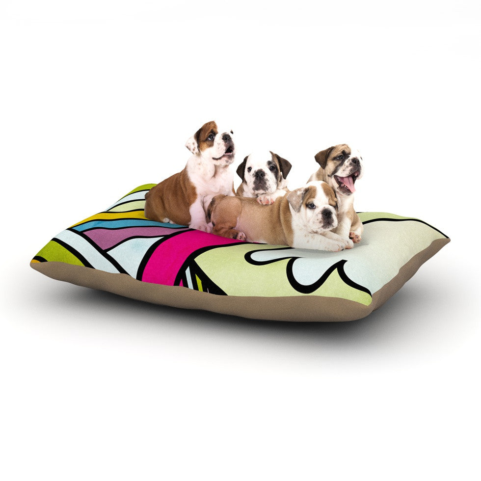 "Danny Ivan ""Fake Colors"" Dog Bed - KESS InHouse  - 1"