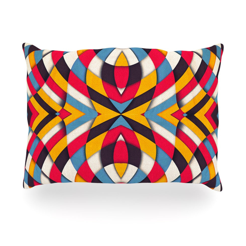 "Danny Ivan ""Stained Glass"" Oblong Pillow - KESS InHouse"