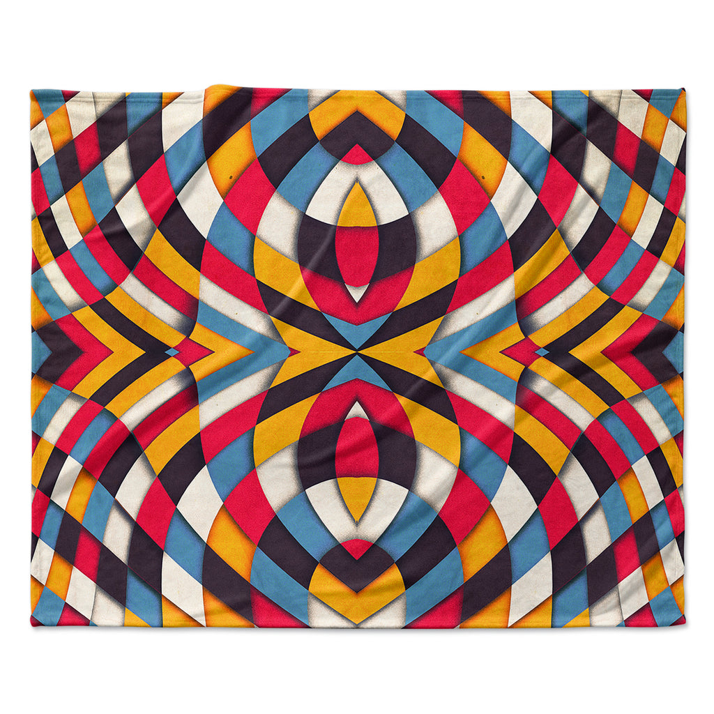 "Danny Ivan ""Stained Glass"" Fleece Throw Blanket"