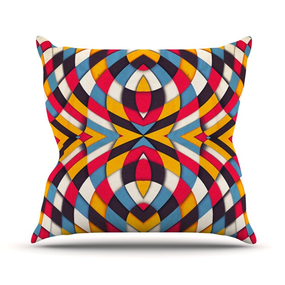 "Danny Ivan ""Stained Glass"" Throw Pillow - KESS InHouse  - 1"