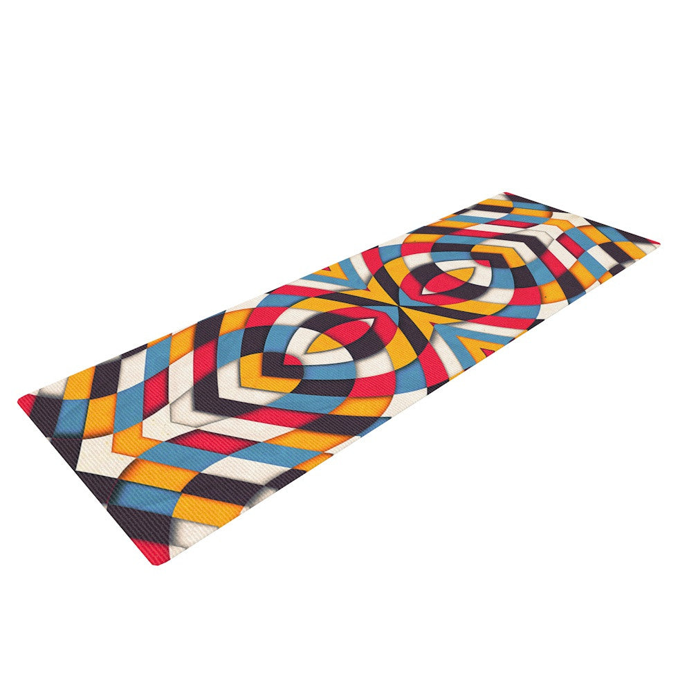 "Danny Ivan ""Stained Glass"" Yoga Mat - KESS InHouse  - 1"