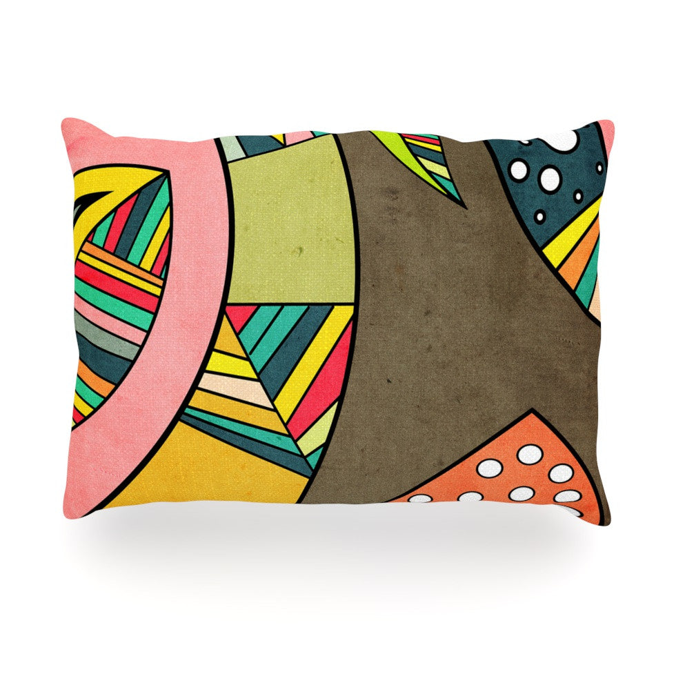 "Danny Ivan ""Cosmic Aztec"" Oblong Pillow - KESS InHouse"