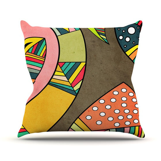 "Danny Ivan ""Cosmic Aztec"" Outdoor Throw Pillow - KESS InHouse  - 1"