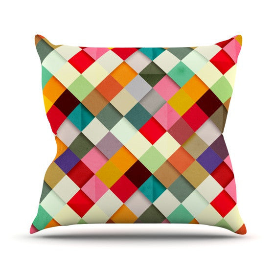 "Danny Ivan ""Pass This On"" Outdoor Throw Pillow - KESS InHouse  - 1"