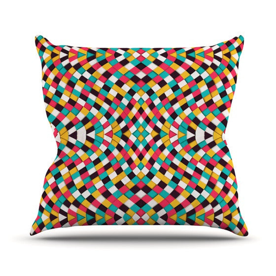 "Danny Ivan ""Retro Grade"" Outdoor Throw Pillow - KESS InHouse  - 1"