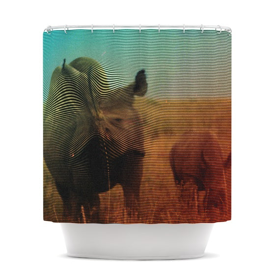 "Danny Ivan ""Abstract Rhino"" Shower Curtain - KESS InHouse"