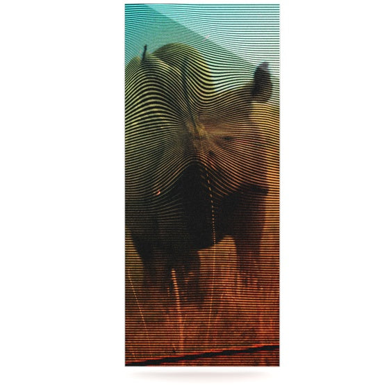 "Danny Ivan ""Abstract Rhino"" Luxe Rectangle Panel - KESS InHouse  - 1"
