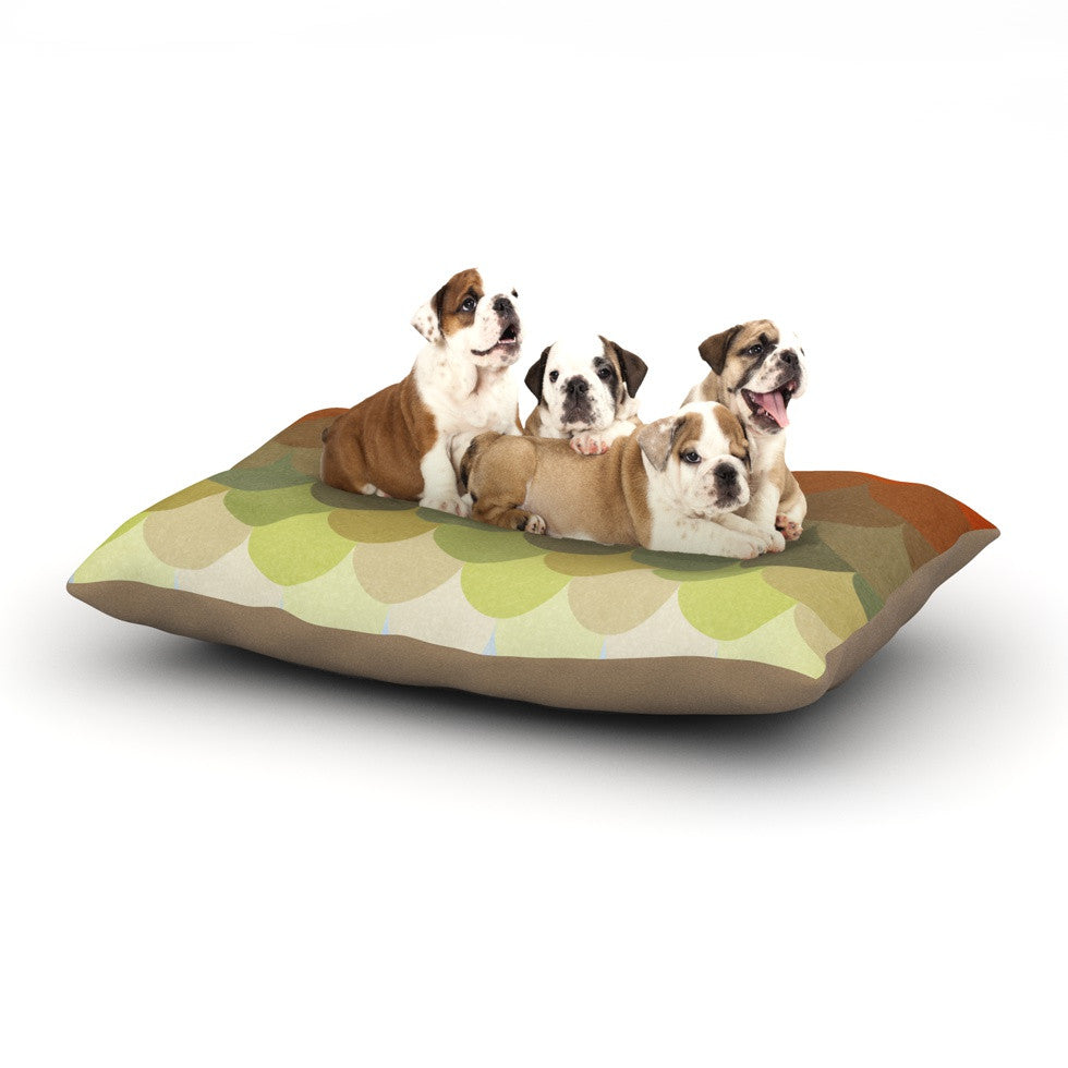 "Danny Ivan ""Half Circle Waves Color"" Dog Bed - KESS InHouse  - 1"