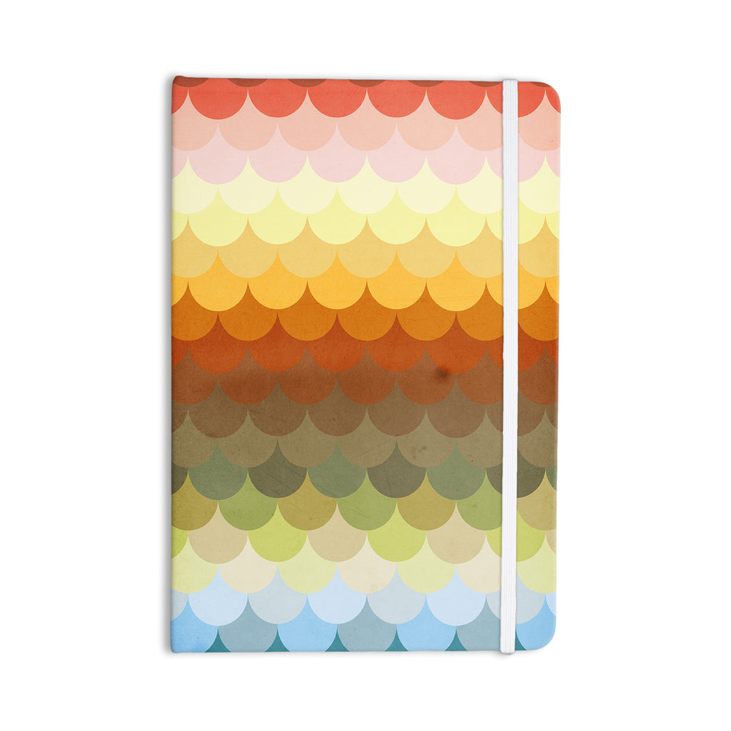 "Danny Ivan ""Half Circle Waves Color"" Everything Notebook - KESS InHouse  - 1"