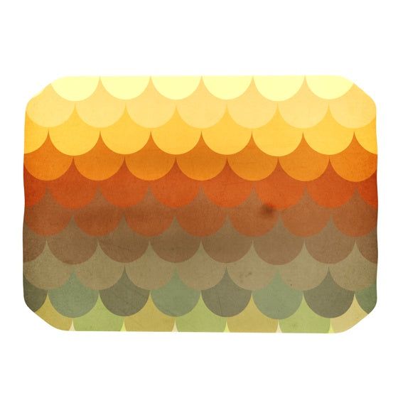 "Danny Ivan ""Half Circle Waves Color"" Place Mat - KESS InHouse"