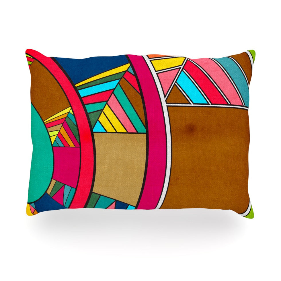 "Danny Ivan ""Lov Pattern"" Oblong Pillow - KESS InHouse"