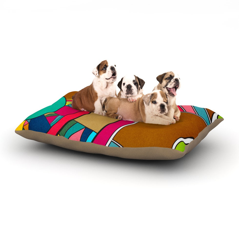 "Danny Ivan ""Lov Pattern"" Dog Bed - KESS InHouse  - 1"