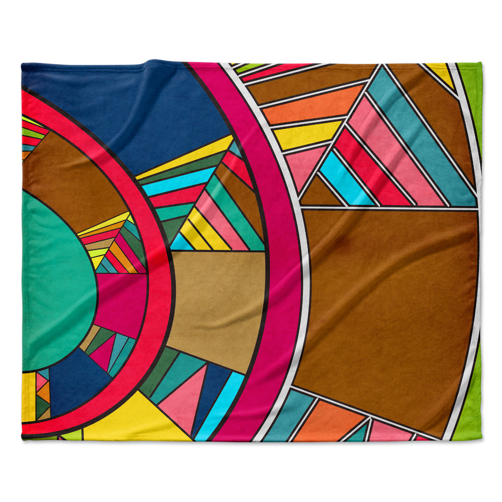 "Danny Ivan ""Lov Pattern"" Fleece Throw  Blanket"