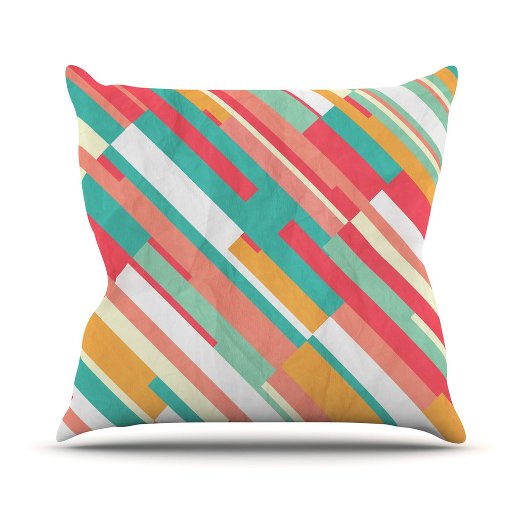 "Danny Ivan ""Droplines"" Outdoor Throw Pillow - KESS InHouse  - 1"