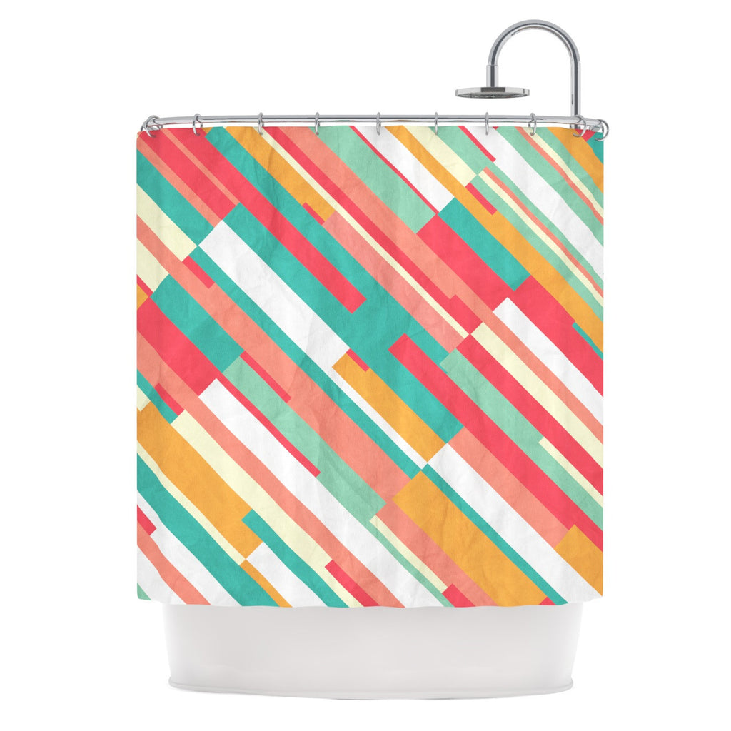 "Danny Ivan ""Droplines"" Shower Curtain - KESS InHouse"