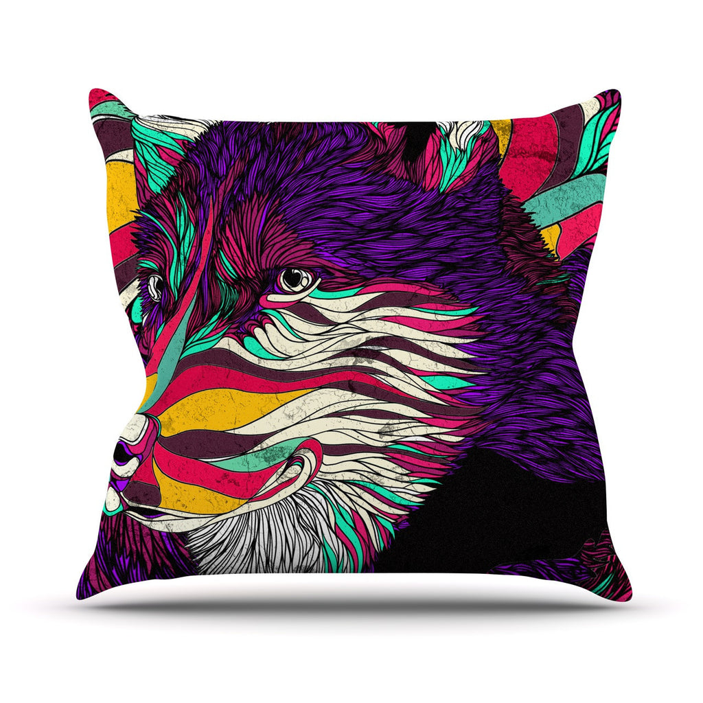 "Danny Ivan ""Color Husky"" Outdoor Throw Pillow - KESS InHouse  - 1"