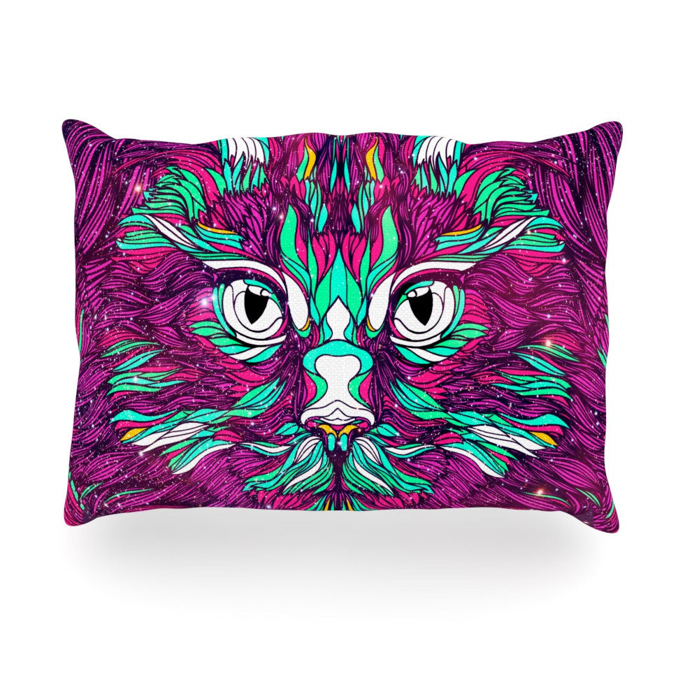 "Danny Ivan ""Space Cat"" Oblong Pillow - KESS InHouse"