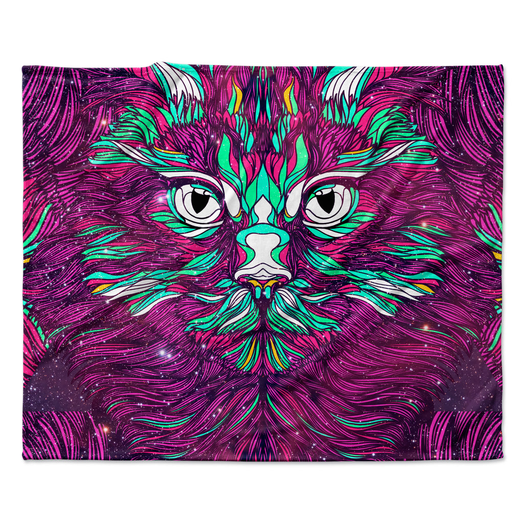 "Danny Ivan ""Space Cat"" Fleece Throw  Blanket"