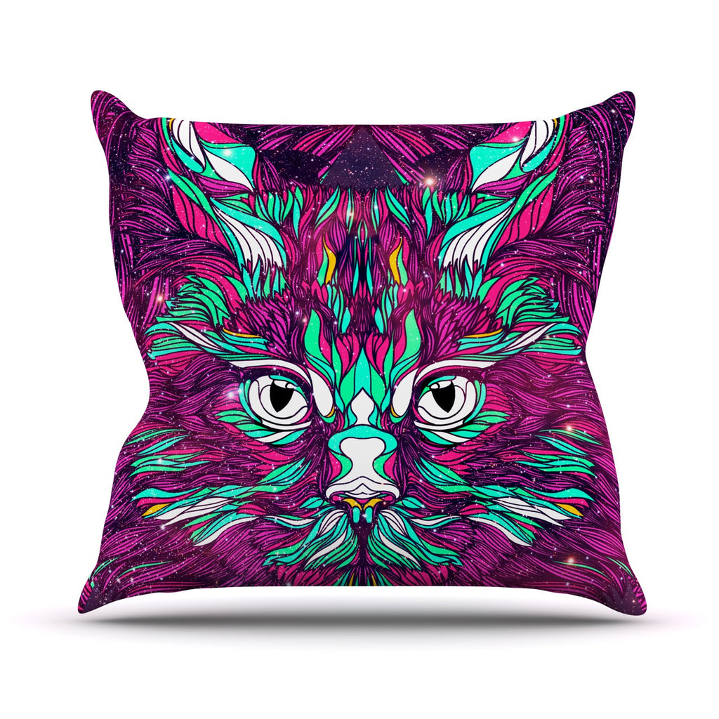 "Danny Ivan ""Space Cat"" Throw Pillow - KESS InHouse  - 1"