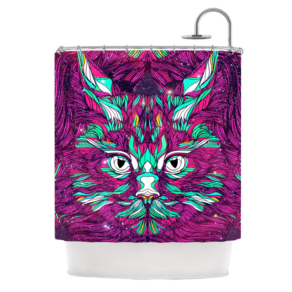 "Danny Ivan ""Space Cat"" Shower Curtain - KESS InHouse"