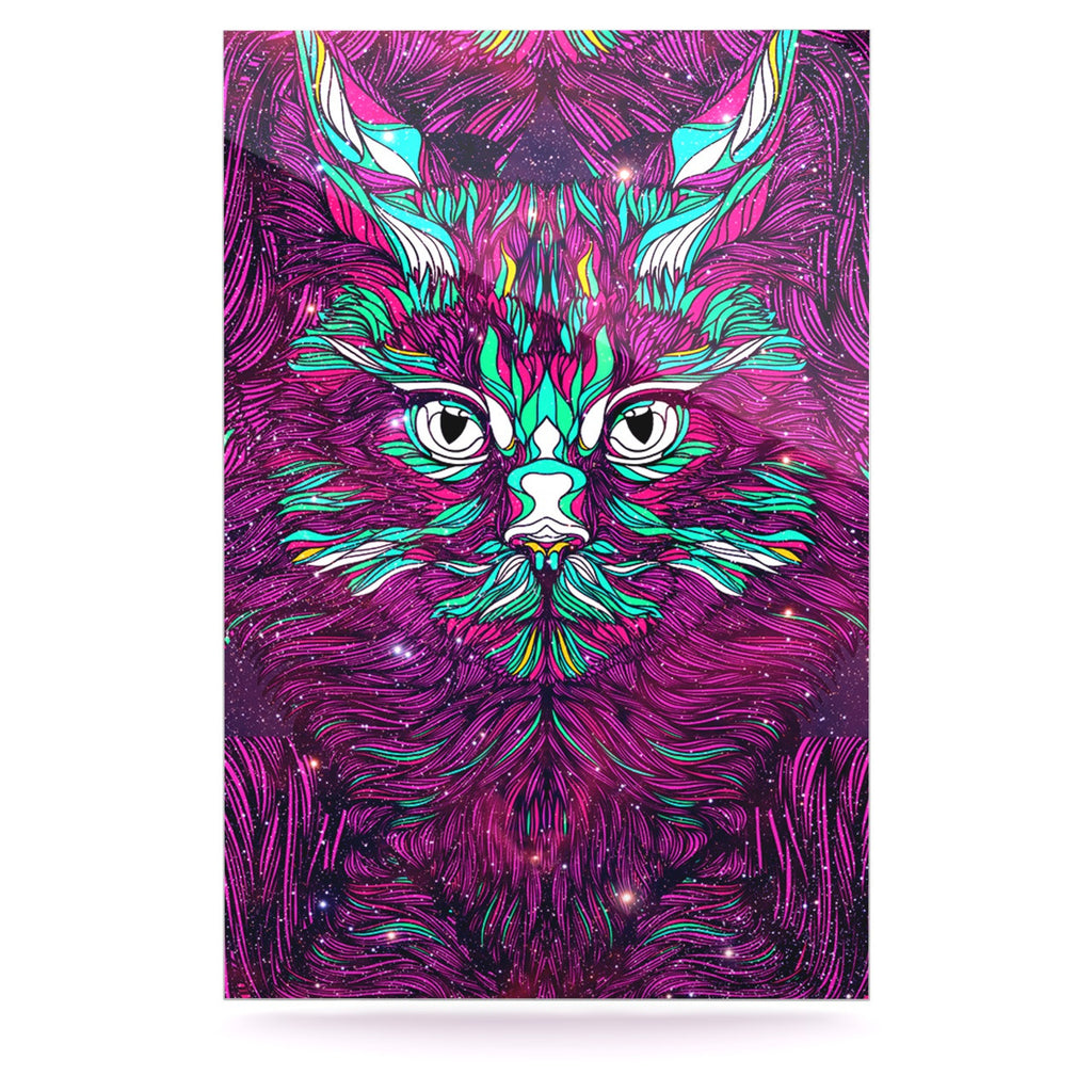 "Danny Ivan ""Space Cat"" Luxe Rectangle Panel - KESS InHouse  - 1"