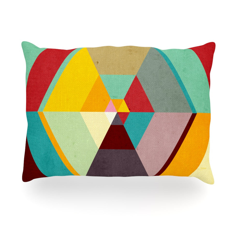 "Danny Ivan ""Color Mess"" Oblong Pillow - KESS InHouse"