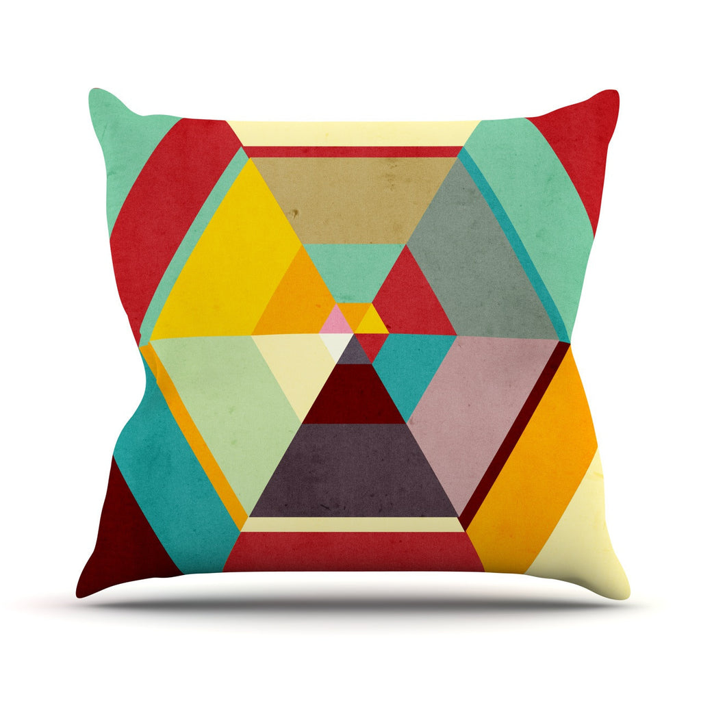 "Danny Ivan ""Color Mess"" Outdoor Throw Pillow - KESS InHouse  - 1"
