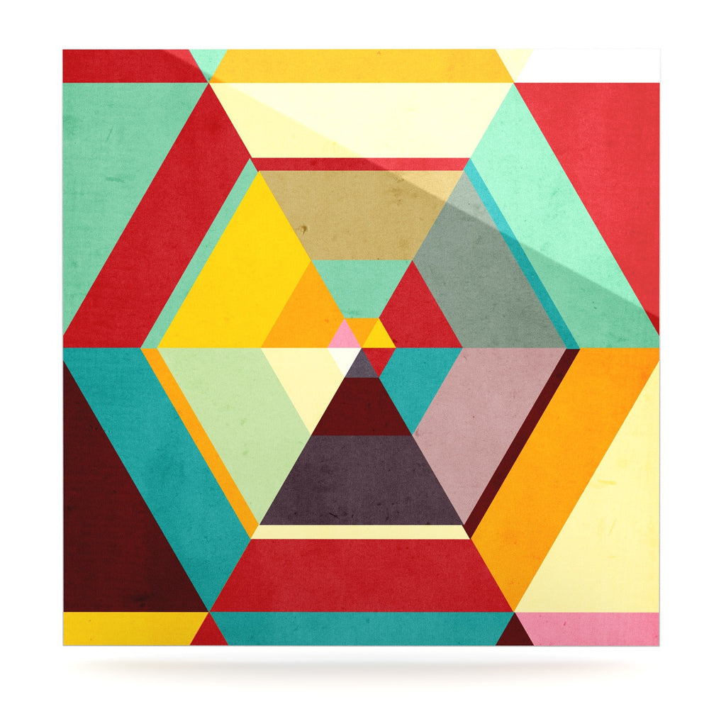"Danny Ivan ""Color Mess"" Luxe Square Panel - KESS InHouse  - 1"