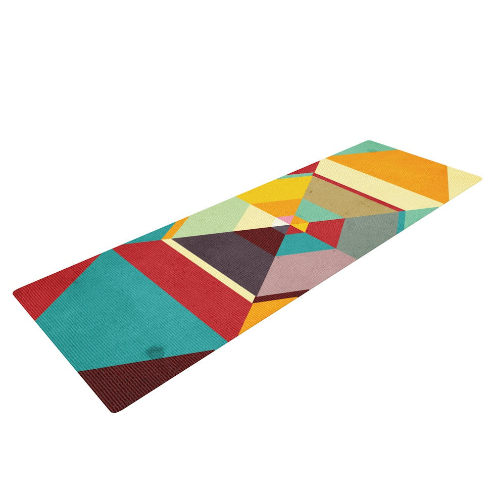 "Danny Ivan ""Color Mess"" Yoga Mat - KESS InHouse  - 1"