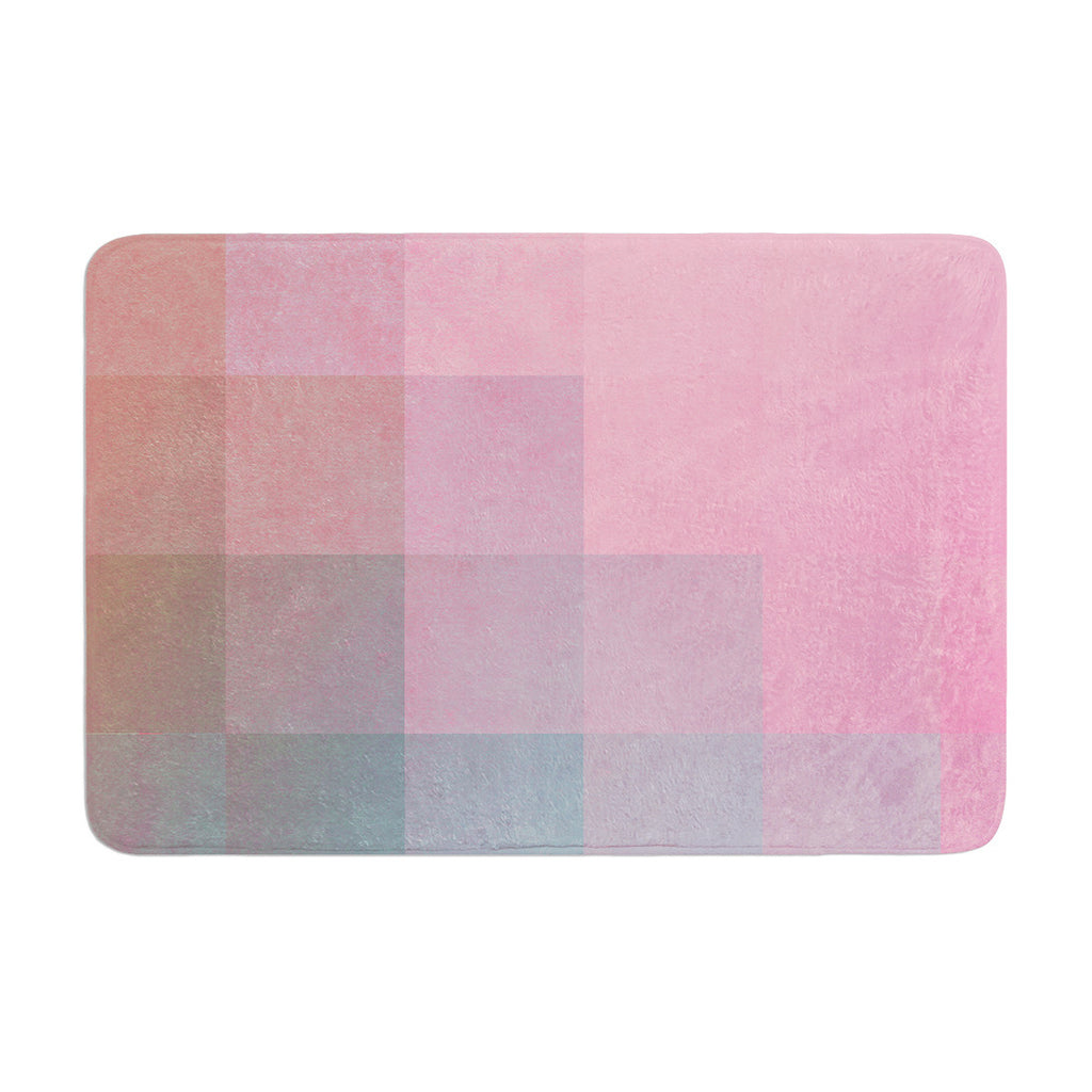 "Danny Ivan ""Girly Pixel Surface"" Memory Foam Bath Mat - KESS InHouse"
