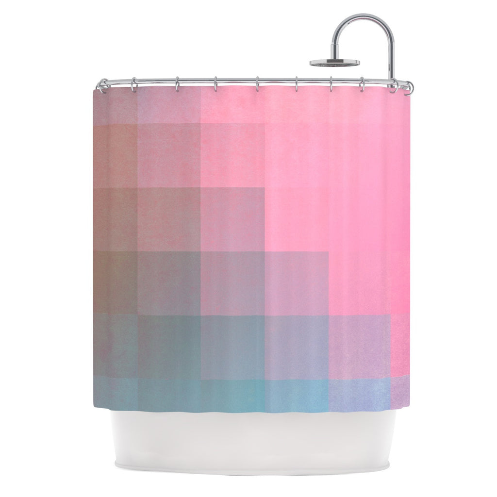 Danny Ivan Girly Pixel Surface Shower Curtain