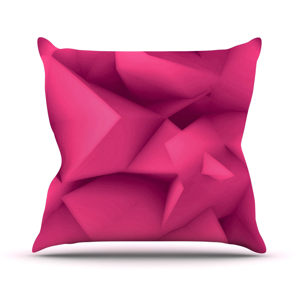 "Danny Ivan ""Purple Surface"" Outdoor Throw Pillow - KESS InHouse  - 1"