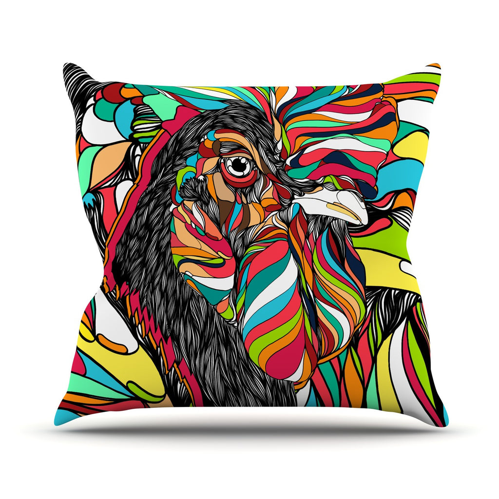 "Danny Ivan ""Tropical Cock"" Throw Pillow - KESS InHouse  - 1"