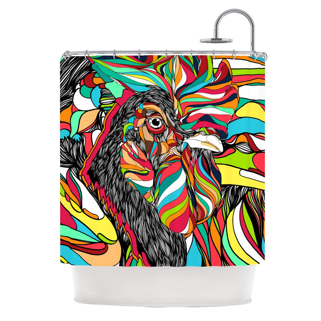 "Danny Ivan ""Tropical Cock"" Shower Curtain - KESS InHouse"