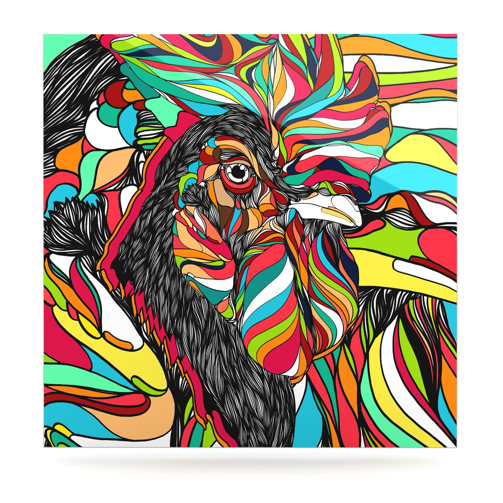 "Danny Ivan ""Tropical Cock"" Luxe Square Panel - KESS InHouse  - 1"