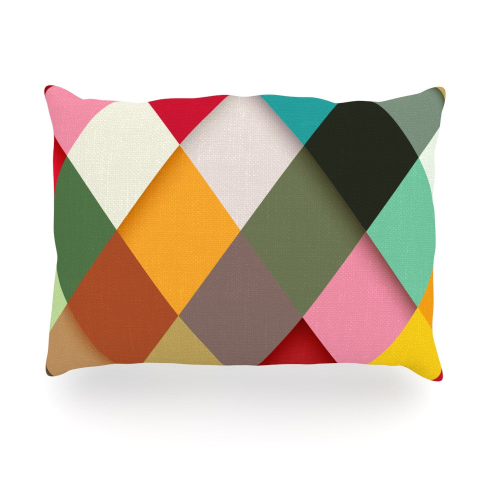 "Danny Ivan ""Colorful"" Oblong Pillow - KESS InHouse"