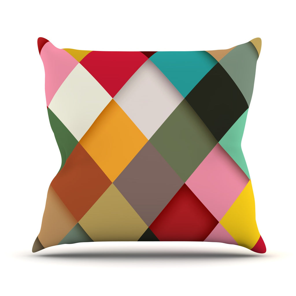 "Danny Ivan ""Colorful"" Outdoor Throw Pillow - KESS InHouse  - 1"