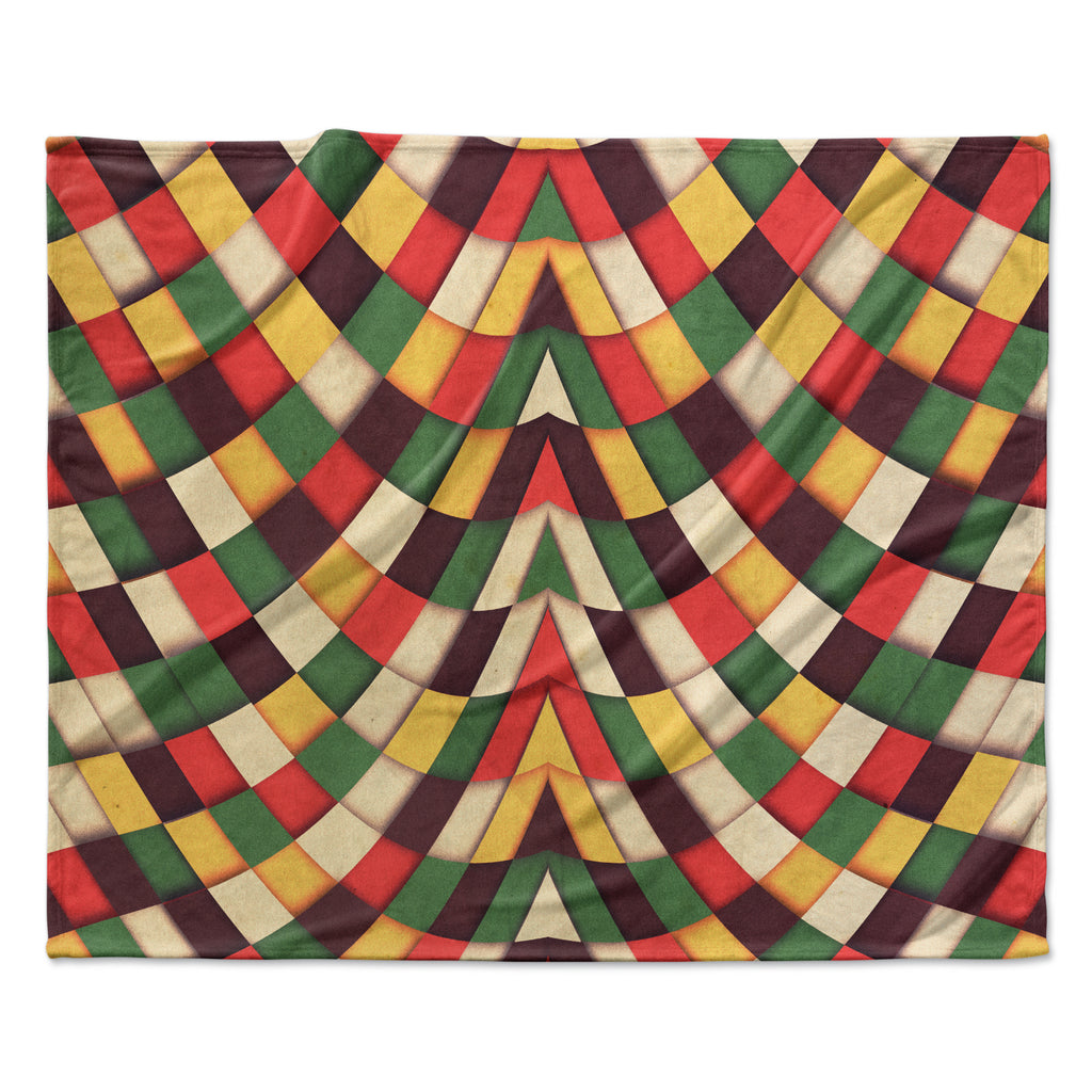 "Danny Ivan ""Rastafarian Tile"" Fleece Throw  Blanket"