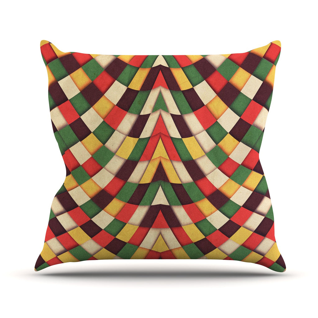 "Danny Ivan ""Rastafarian Tile"" Throw Pillow - KESS InHouse  - 1"