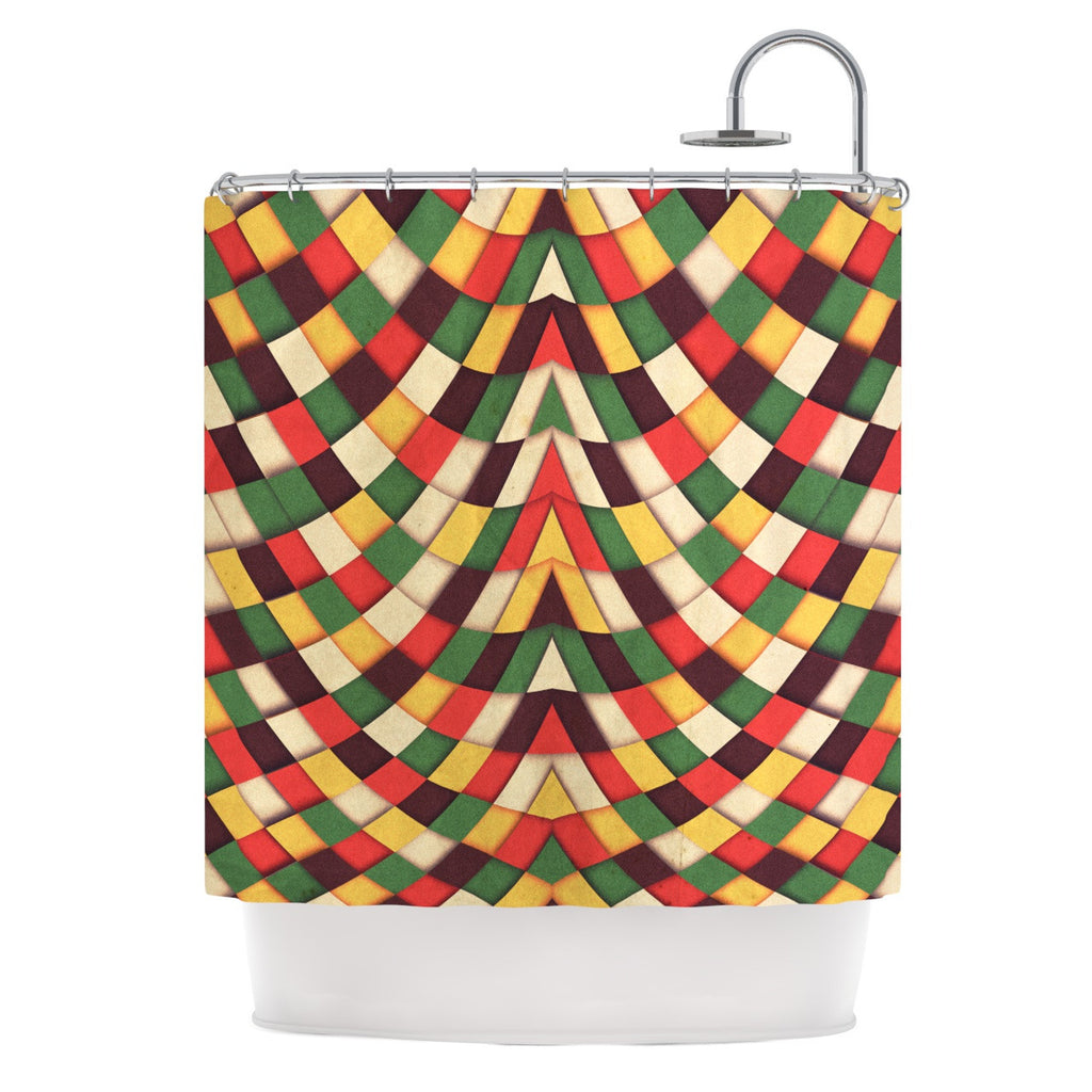 "Danny Ivan ""Rastafarian Tile"" Shower Curtain - KESS InHouse"