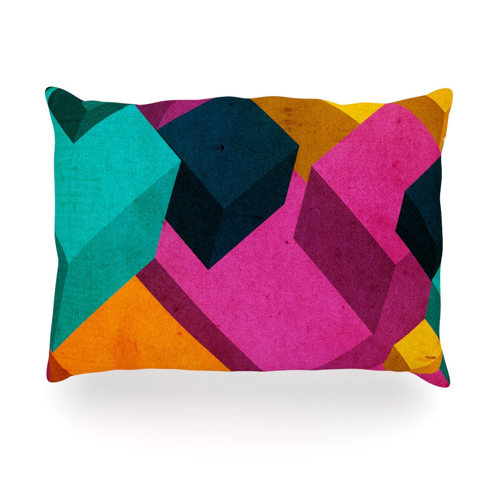 "Danny Ivan ""Happy Cubes"" Oblong Pillow - KESS InHouse"