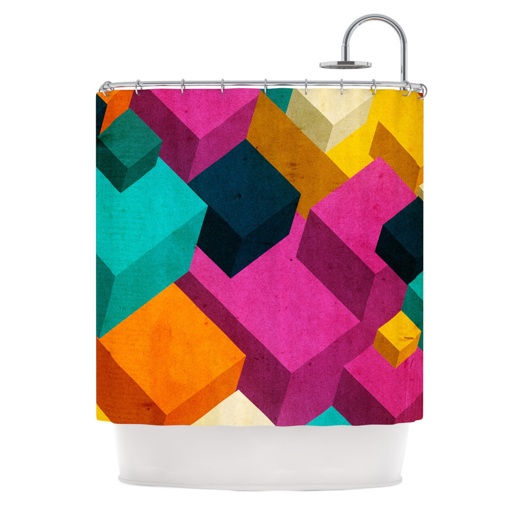 "Danny Ivan ""Happy Cubes"" Shower Curtain - KESS InHouse"