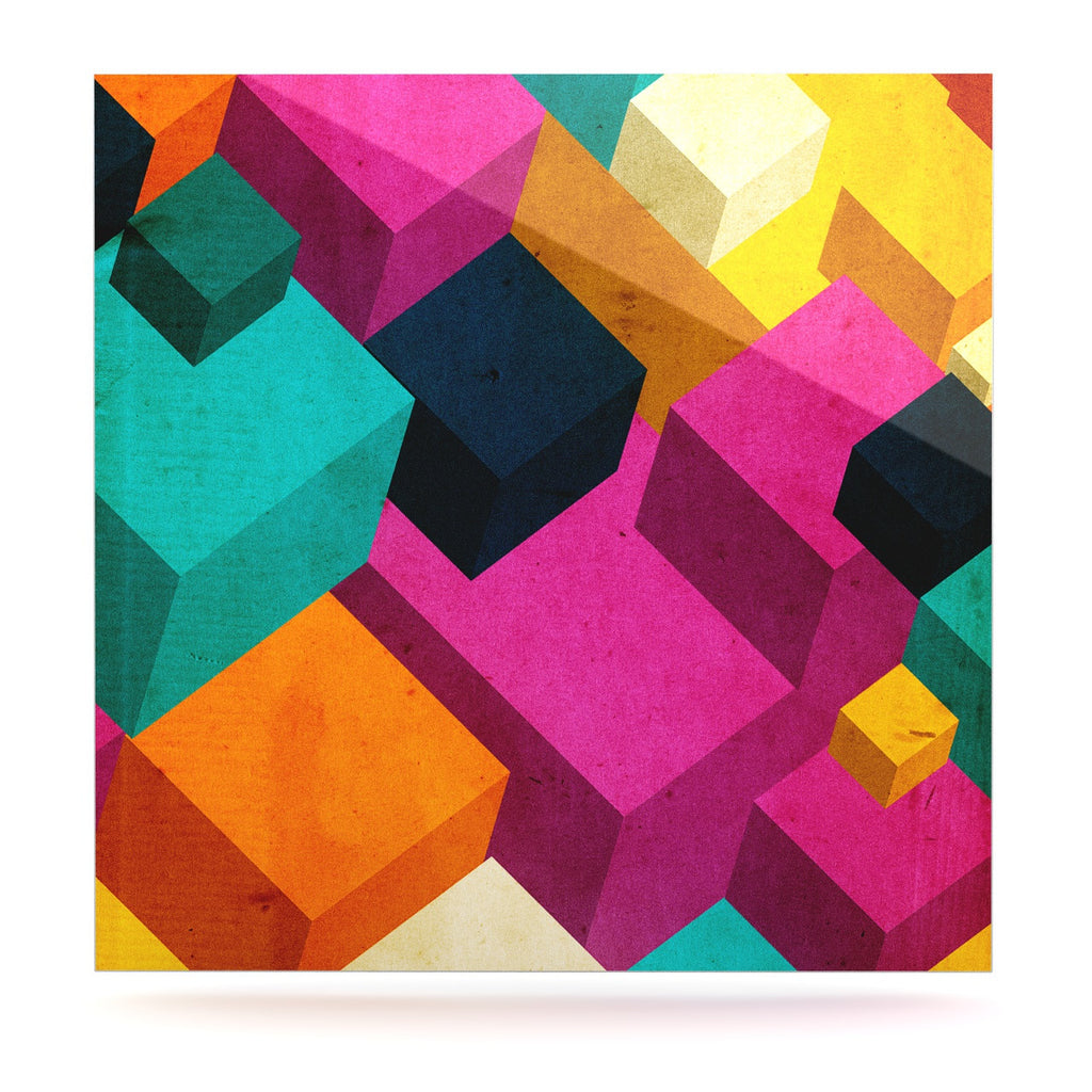 "Danny Ivan ""Happy Cubes"" Luxe Square Panel - KESS InHouse  - 1"