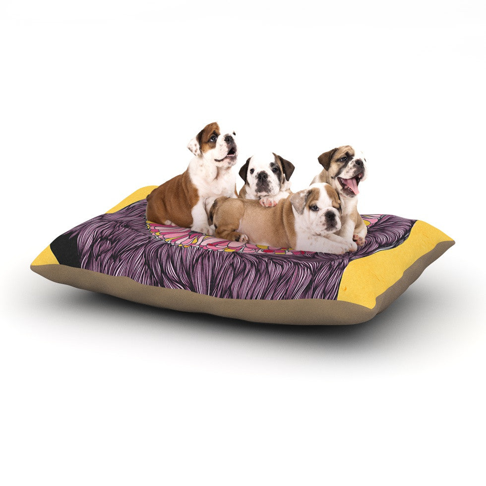 "Danny Ivan ""Lovely Owl"" Dog Bed - KESS InHouse  - 1"
